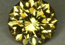 yellowish oval-cut zircon